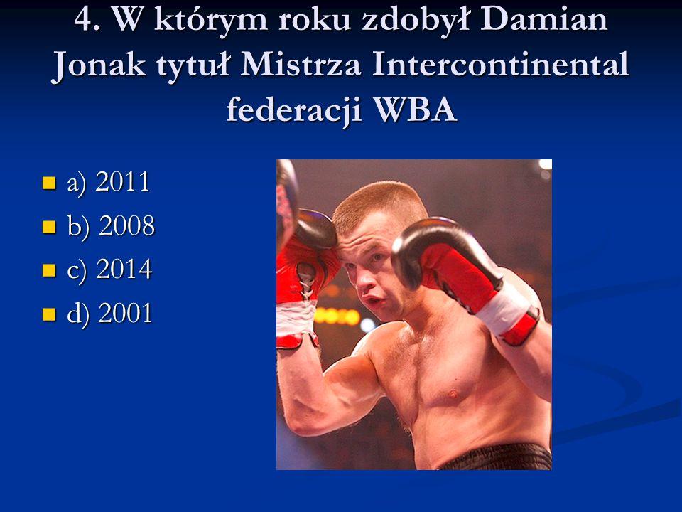 Poprawna odpowiedź to: a) 2011 a) 2011