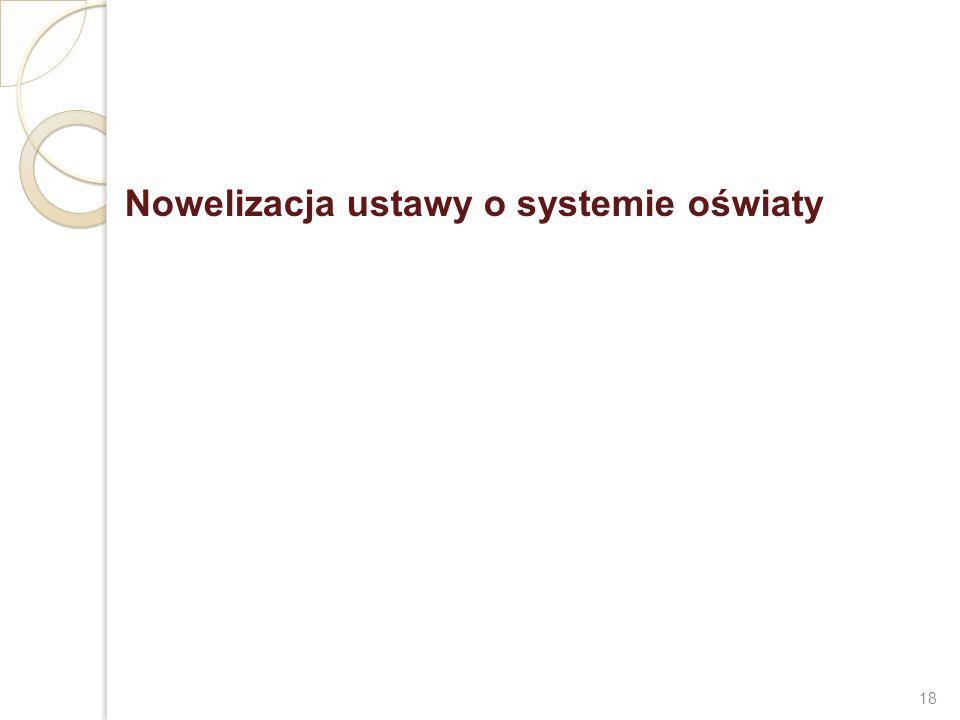 Nowelizacja ustawy o systemie oświaty 18