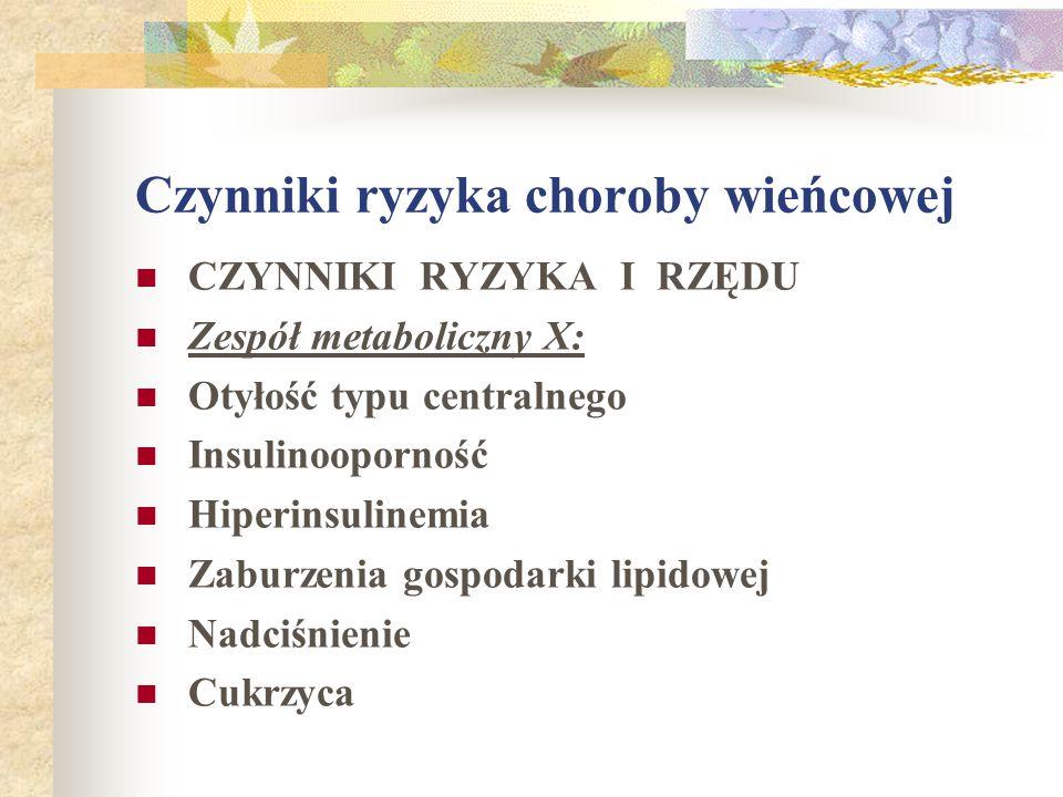 LECZENIE OBJAWOWE CHOROBY WIEŃCOWEJ a.azotany b. leki przeciwkrzepliwe c.