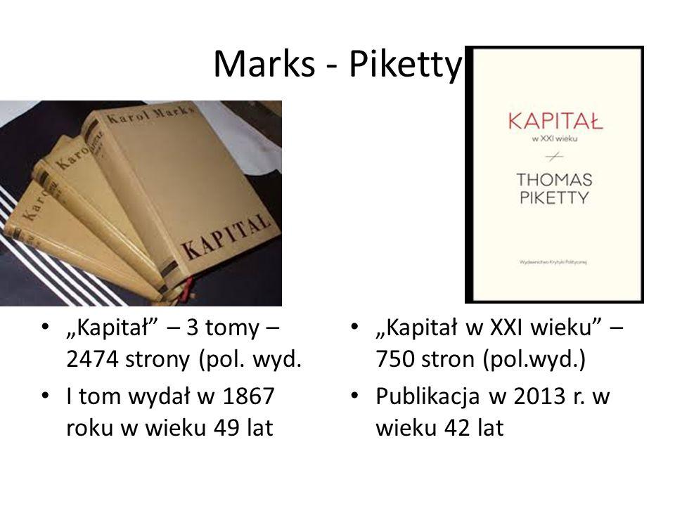 """Marks - Piketty """"Kapitał – 3 tomy – 2474 strony (pol."""