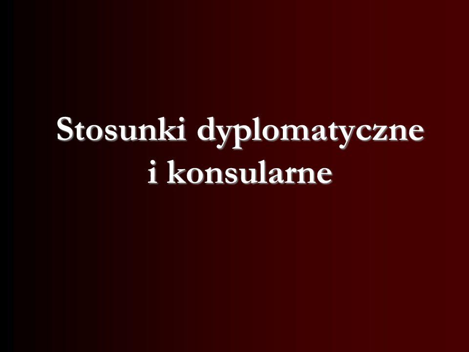 Stosunki dyplomatyczne i konsularne