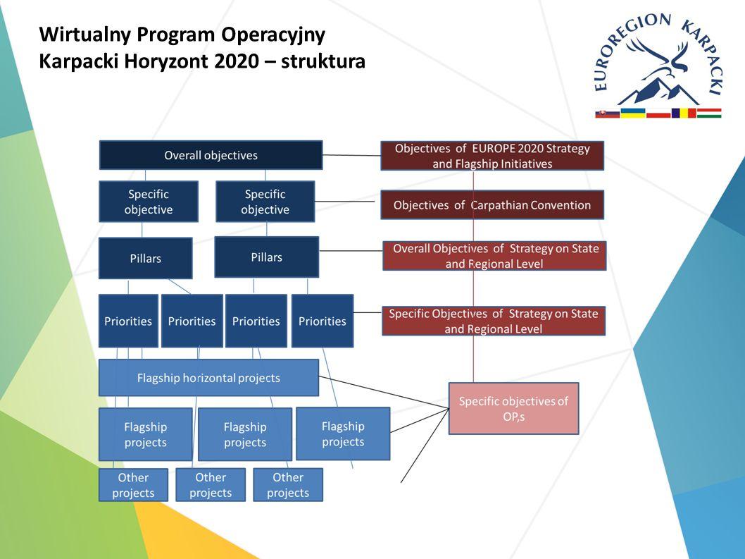 Wirtualny Program Operacyjny Karpacki Horyzont 2020 – struktura