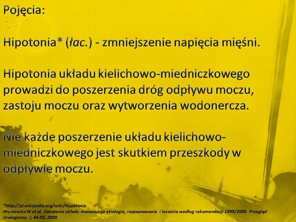 *http://pl.wikipedia.org/wiki/Hypotonia Hryniewicz W et al. Zakażenia układu moczowego etiologia, rozpoznawanie i leczenie według rekomendacji 1999/20