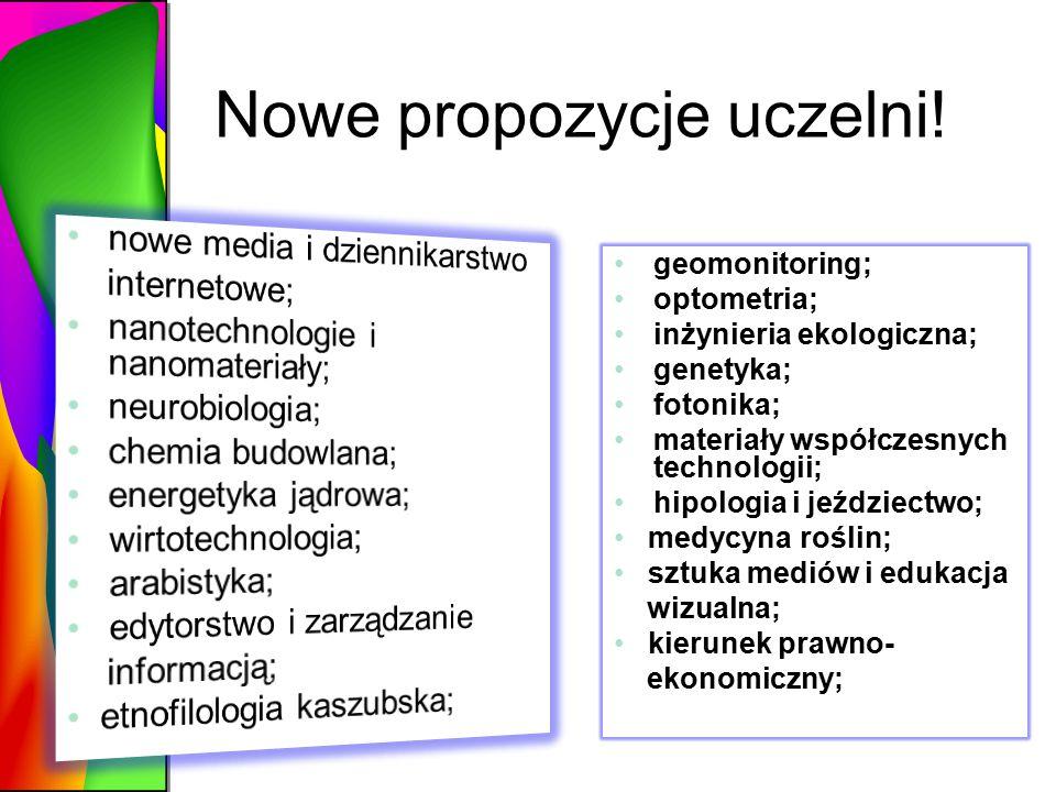 Nowe propozycje uczelni!