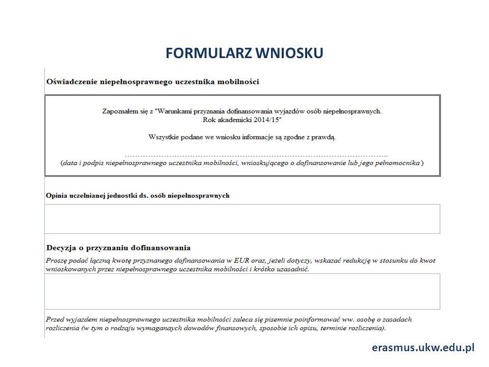 FORMULARZ WNIOSKU erasmus.ukw.edu.pl