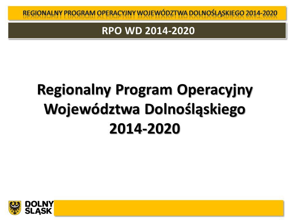 RPO WD 2014-2020 Regionalny Program Operacyjny Województwa Dolnośląskiego 2014-2020