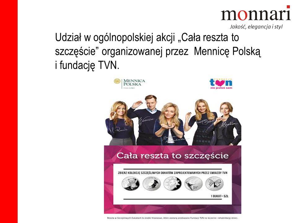 """Jakość, elegancja i styl Udział w ogólnopolskiej akcji """"Cała reszta to szczęście"""" organizowanej przez Mennicę Polską i fundację TVN."""