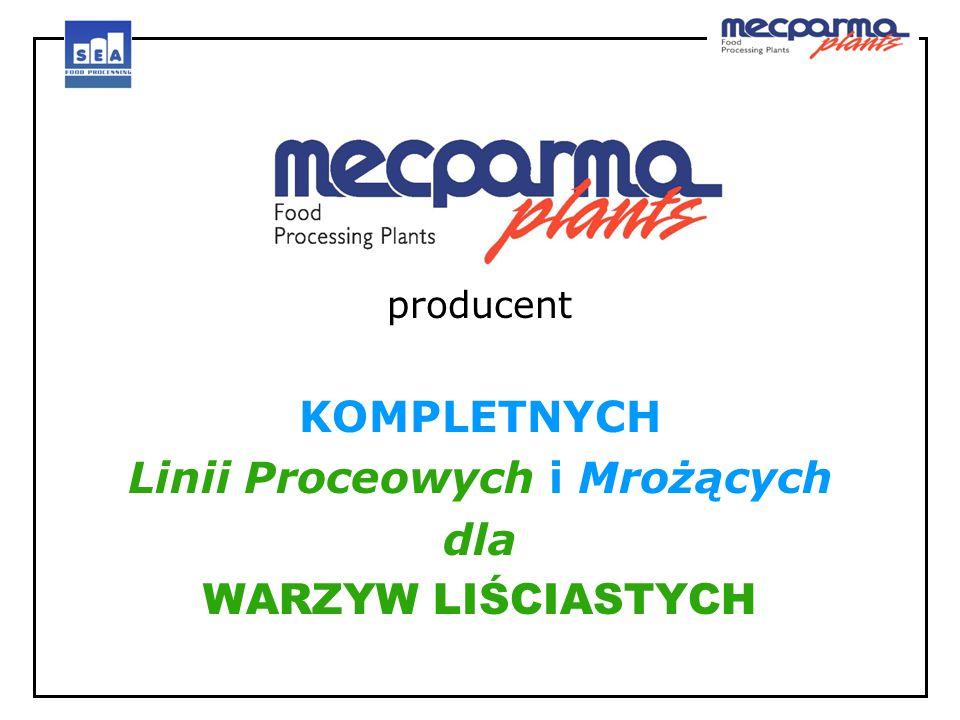 producent KOMPLETNYCH Linii Proceowych i Mrożących dla WARZYW LIŚCIASTYCH