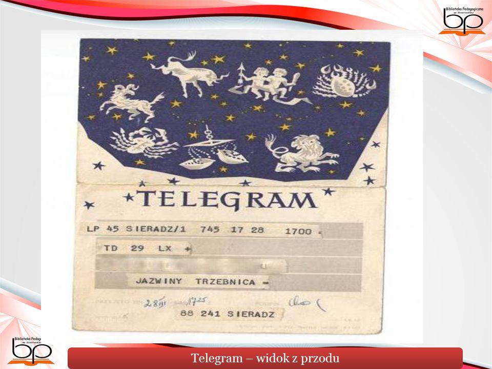Telegram – widok z przodu