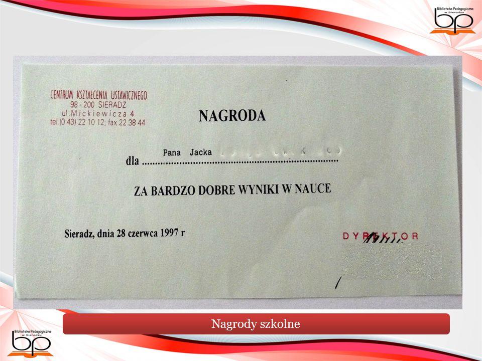 Nagrody szkolne