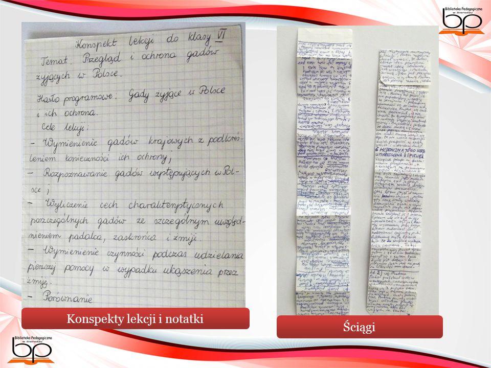 Konspekty lekcji i notatki Ściągi