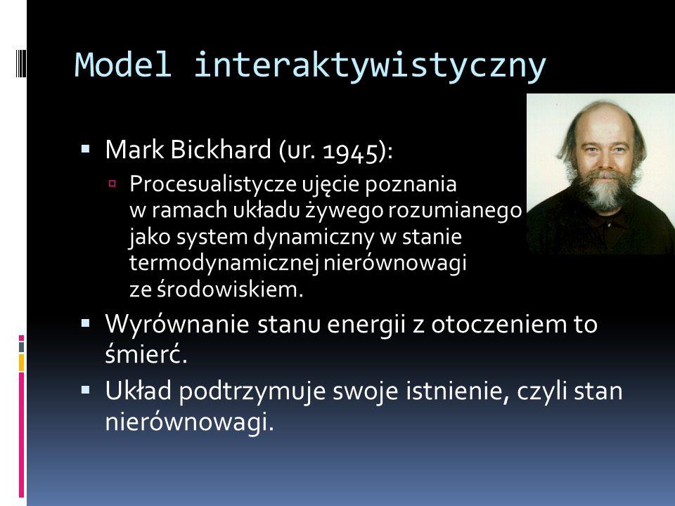Model interaktywistyczny  Mark Bickhard (ur.
