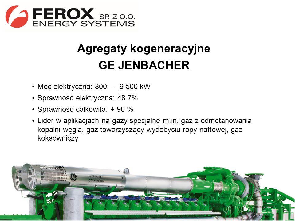 Moc elektryczna: 300 – 9 500 kW Sprawność elektryczna: 48.7% Sprawność całkowita: + 90 % Lider w aplikacjach na gazy specjalne m.in. gaz z odmetanowan