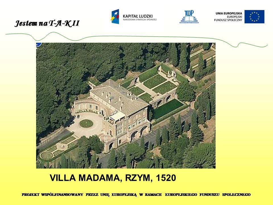 VILLA MADAMA, RZYM, 1520