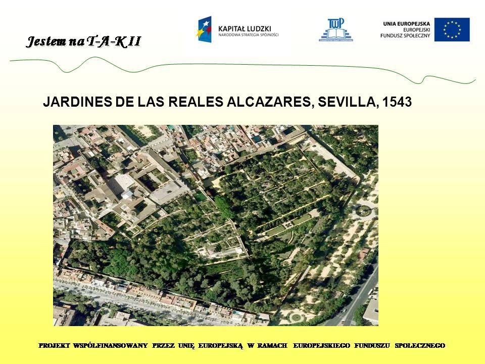 JARDINES DE LAS REALES ALCAZARES, SEVILLA, 1543