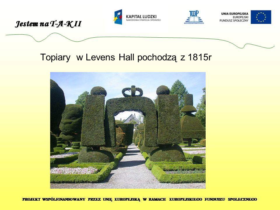 Topiary w Levens Hall pochodzą z 1815r