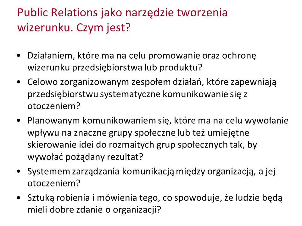 Public Relations jako narzędzie tworzenia wizerunku. Czym jest? Działaniem, które ma na celu promowanie oraz ochronę wizerunku przedsiębiorstwa lub pr