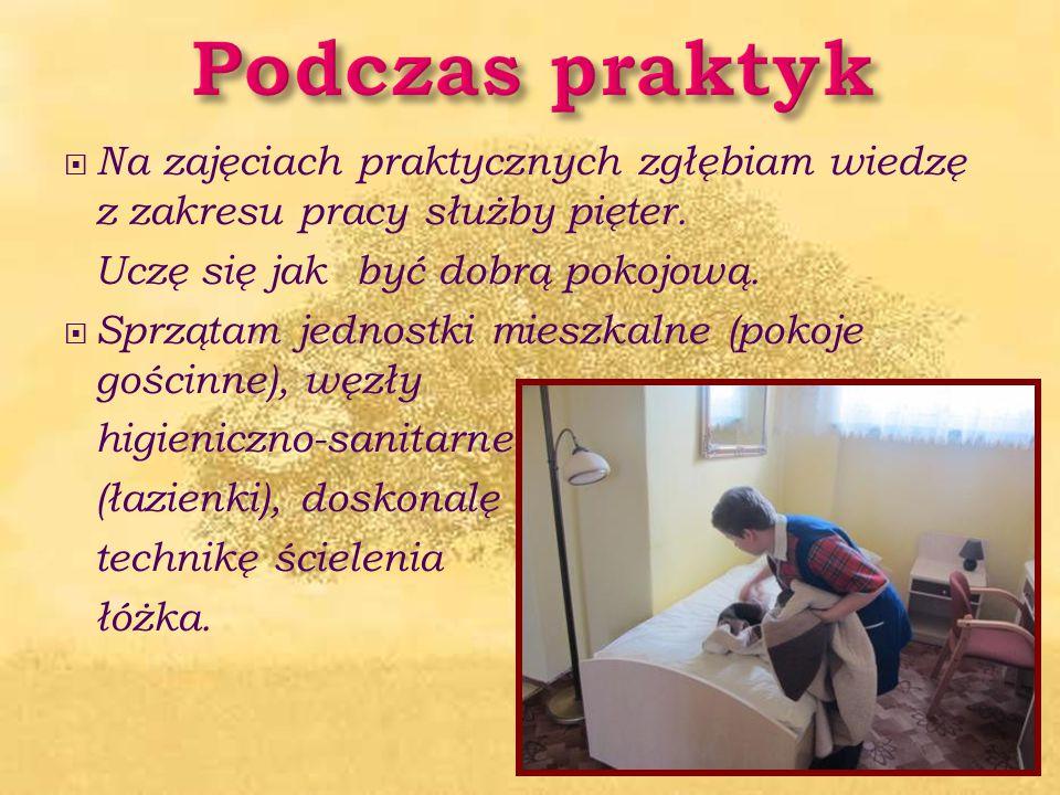 Biorę udział w wycieczkach zawodoznawczych. Odwiedziłam wrocławskie hotele: Park, Olimp, Tumski.