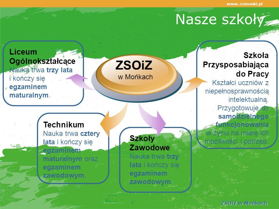 www.zsmonki.pl ZSOiZ w Mońkach Warto wybrać naszą szkołę!  Otwiera drzwi na najlepsze studia! 33