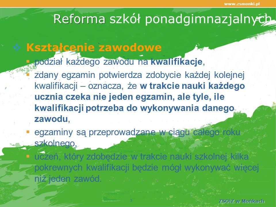 www.zsmonki.pl ZSOiZ w Mońkach Warto wybrać naszą szkołę!  Angażuje się w projekty! 34
