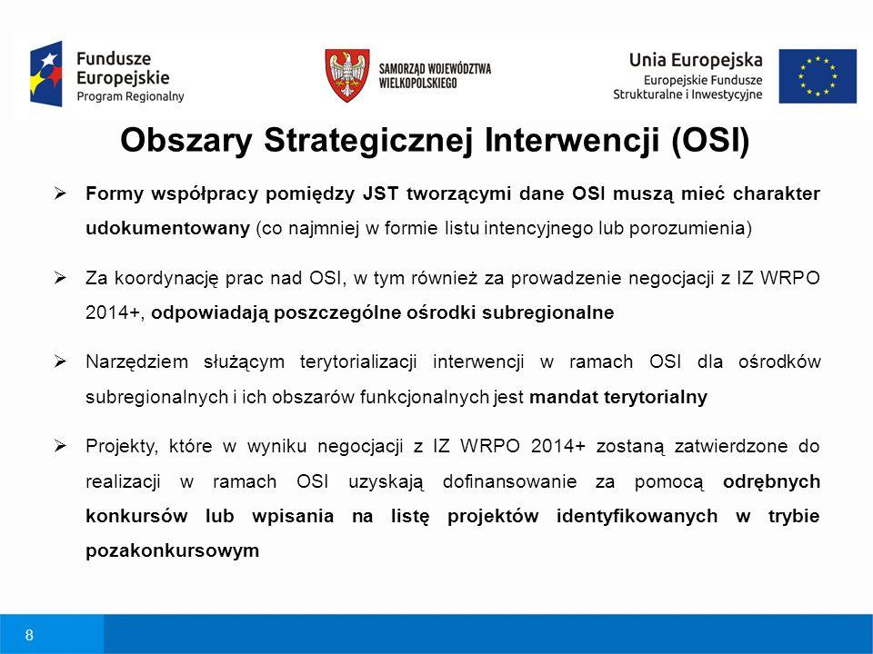 8  Formy współpracy pomiędzy JST tworzącymi dane OSI muszą mieć charakter udokumentowany (co najmniej w formie listu intencyjnego lub porozumienia) 
