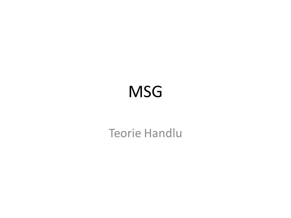 MSG Teorie Handlu
