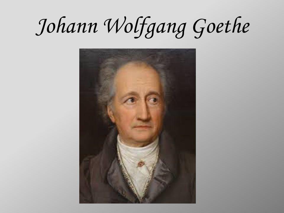 Johann Wolfgang von Goethe urodził się 28 sierpnia 1749r.