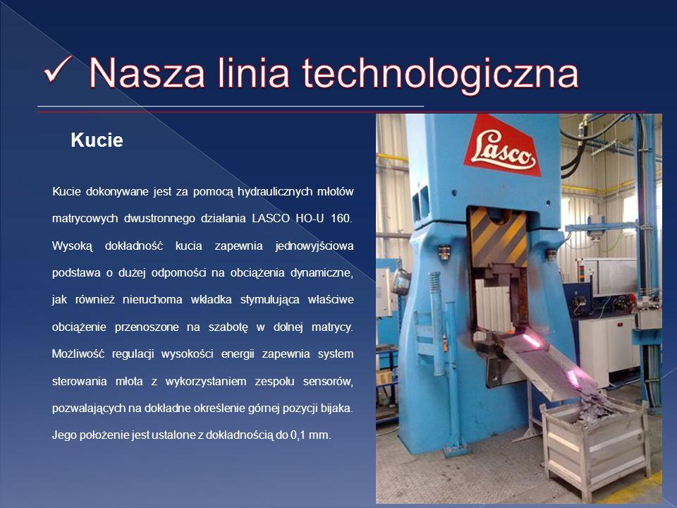 Kucie Kucie dokonywane jest za pomocą hydraulicznych młotów matrycowych dwustronnego działania LASCO HO-U 160.