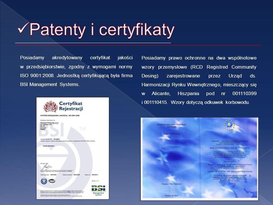 Posiadamy akredytowany certyfikat jakości w przedsiębiorstwie, zgodny z wymogami normy ISO 9001:2008.