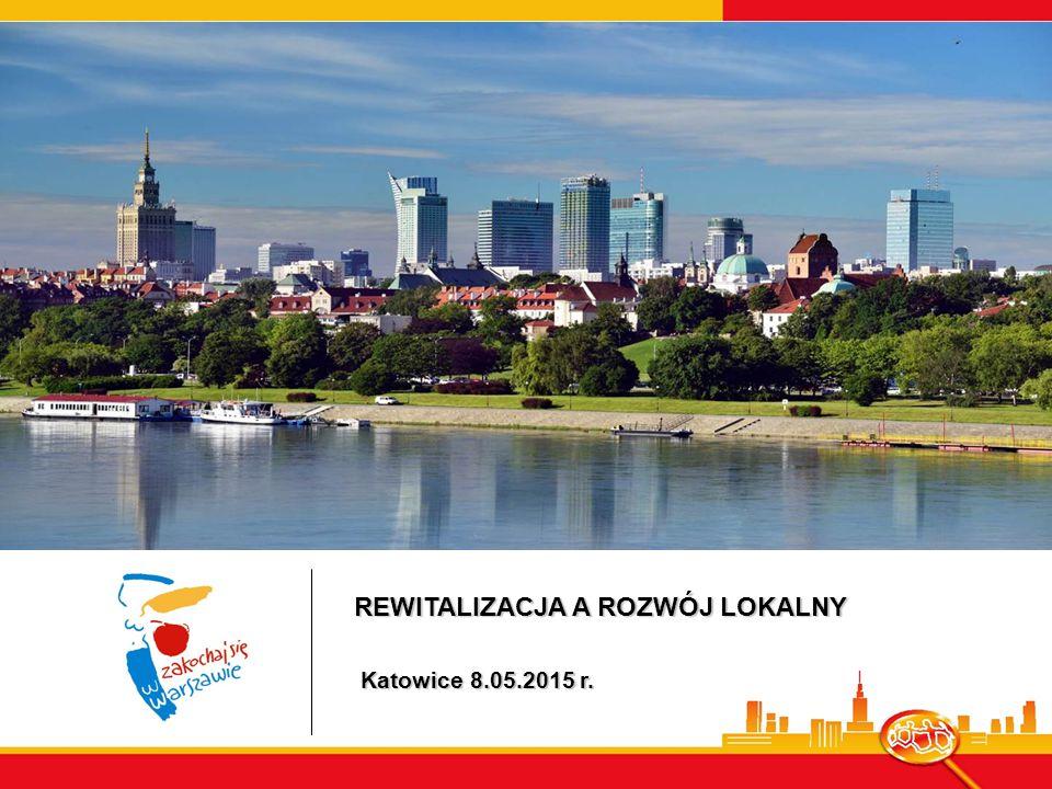 REWITALIZACJA A ROZWÓJ LOKALNY Katowice 8.05.2015 r. Katowice 8.05.2015 r.