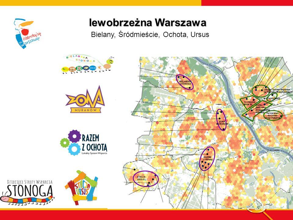 lewobrzeżna Warszawa Bielany, Śródmieście, Ochota, Ursus