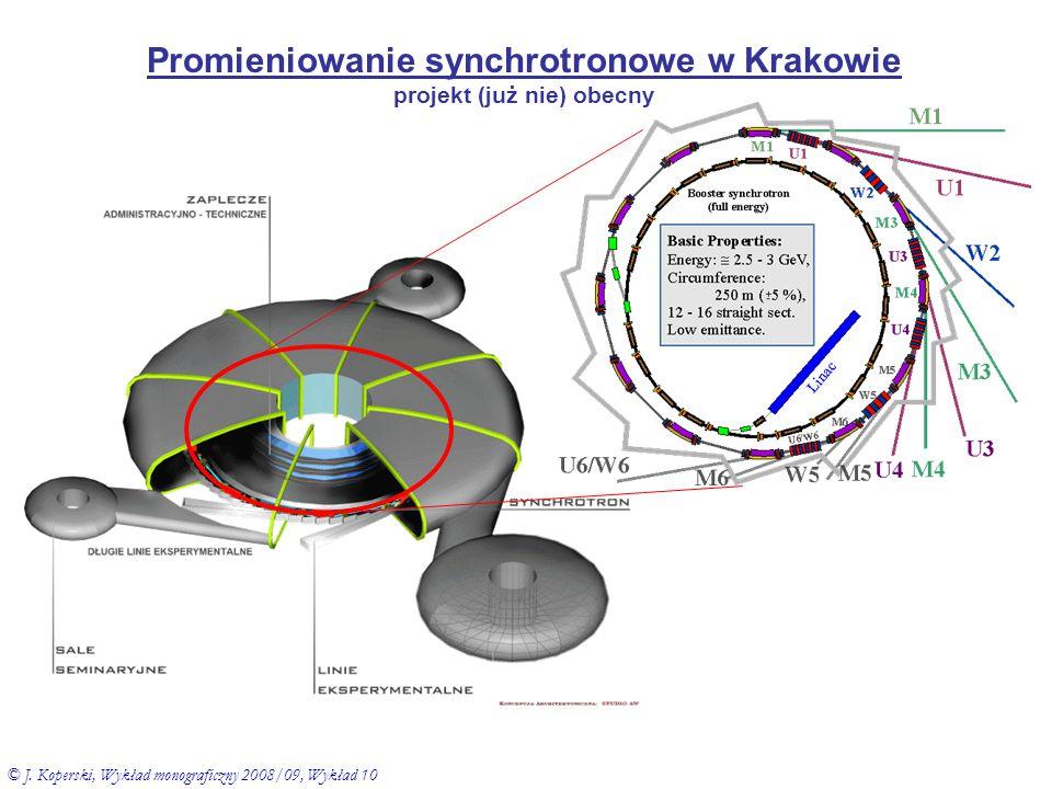 Promieniowanie synchrotronowe w Krakowie projekt (już nie) obecny