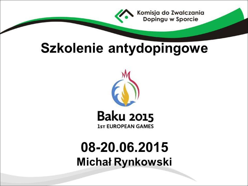 Szkolenie antydopingowe 08-20.06.2015 Michał Rynkowski