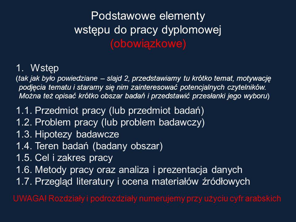 1.Wstęp (tak jak było powiedziane – slajd 2, przedstawiamy tu krótko temat, motywację podjęcia tematu i staramy się nim zainteresować potencjalnych cz