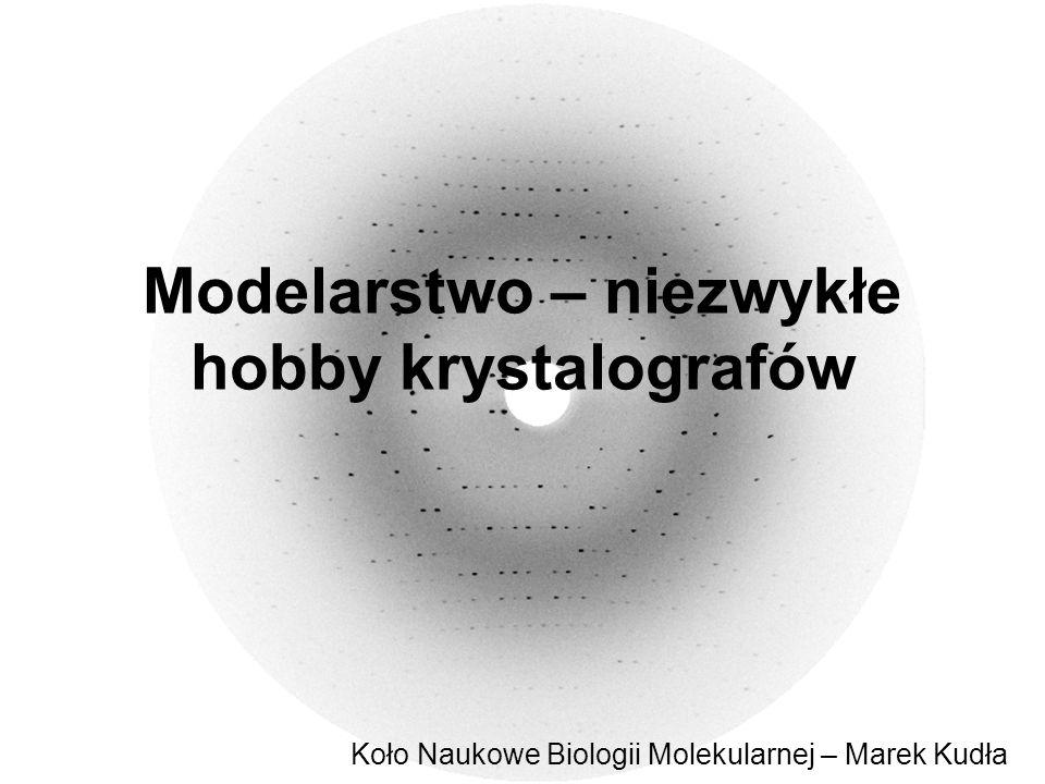 Modelarstwo – niezwykłe hobby krystalografów Koło Naukowe Biologii Molekularnej – Marek Kudła