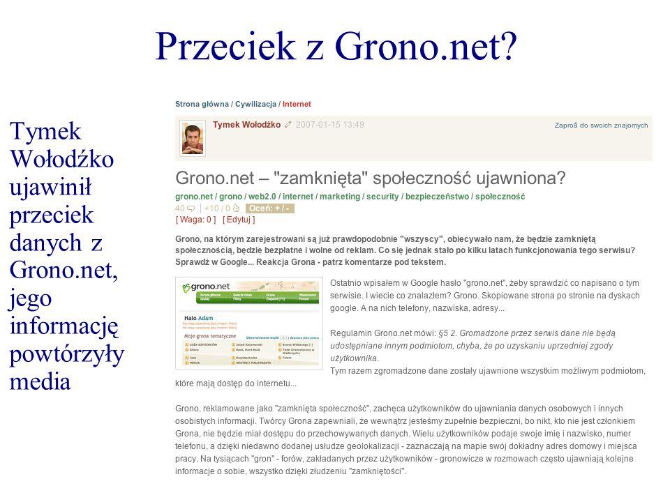 Przeciek z Grono.net.