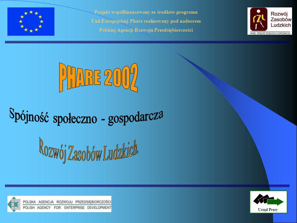 Projekt współfinansowany ze środków programu Unii Europejskiej Phare realizowany pod nadzorem Polskiej Agencji Rozwoju Przedsiębiorczości Urząd Pracy