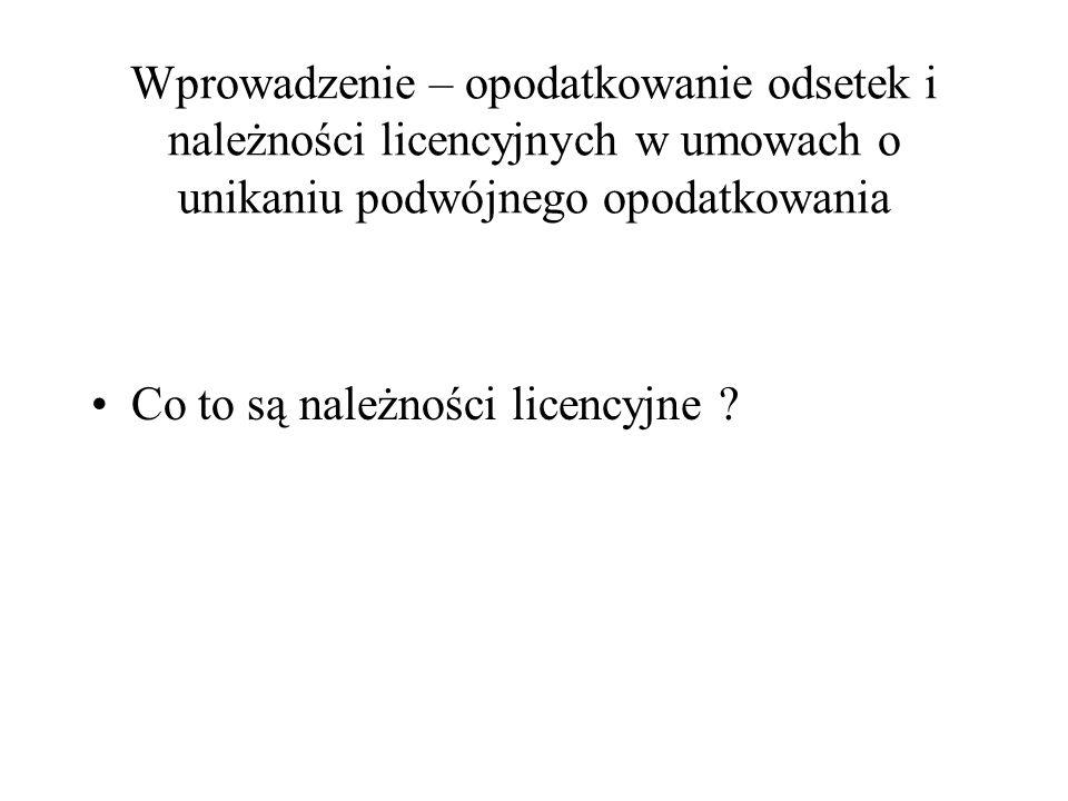 Wypłata należności licencyjnych pomiędzy spółkami Państwo członkowskie X Polska Spółka UE Spółka RP wypłata należności licencyjnych