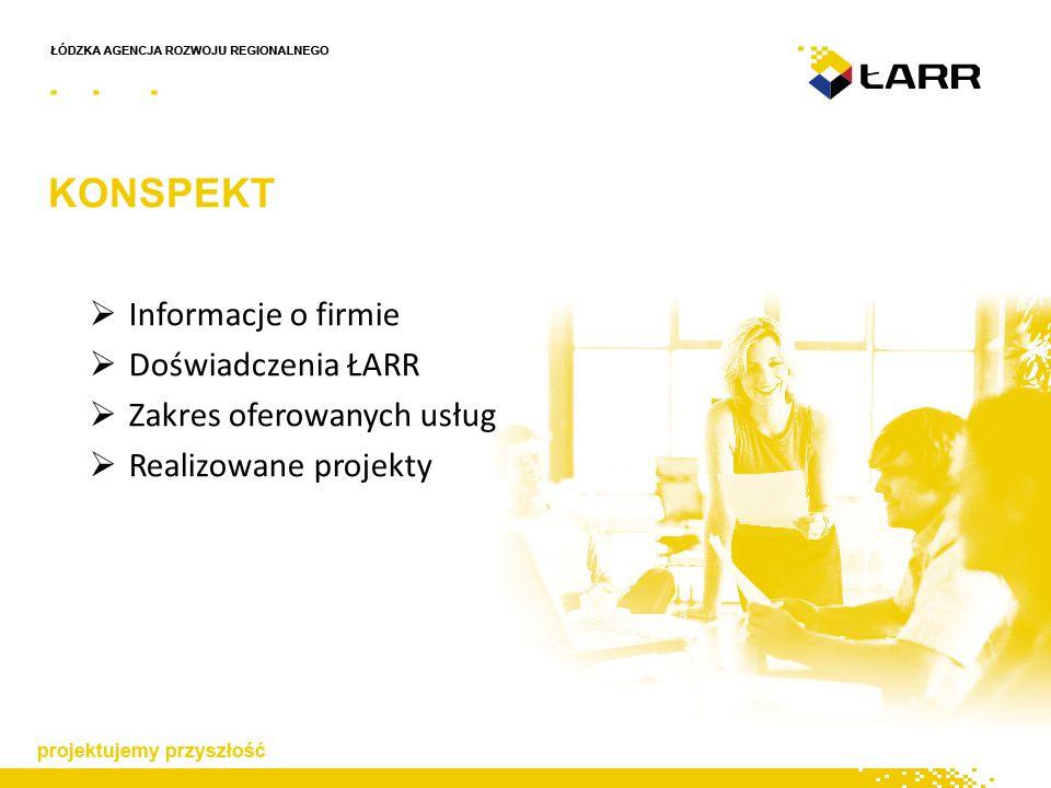 KONSPEKT  Informacje o firmie  Doświadczenia ŁARR  Zakres oferowanych usług  Realizowane projekty