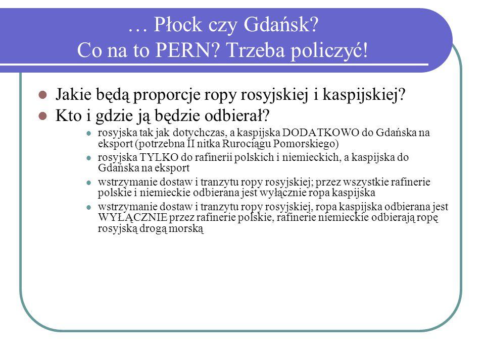 … Płock czy Gdańsk. Co na to PERN. Trzeba policzyć.