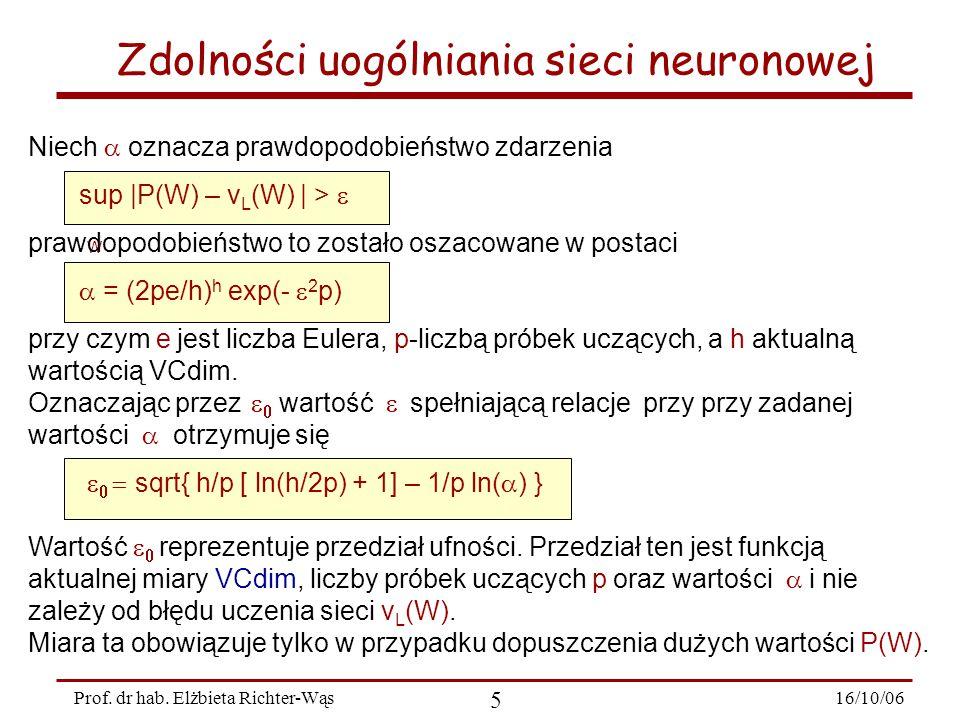 16/10/06 26 Prof.dr hab.