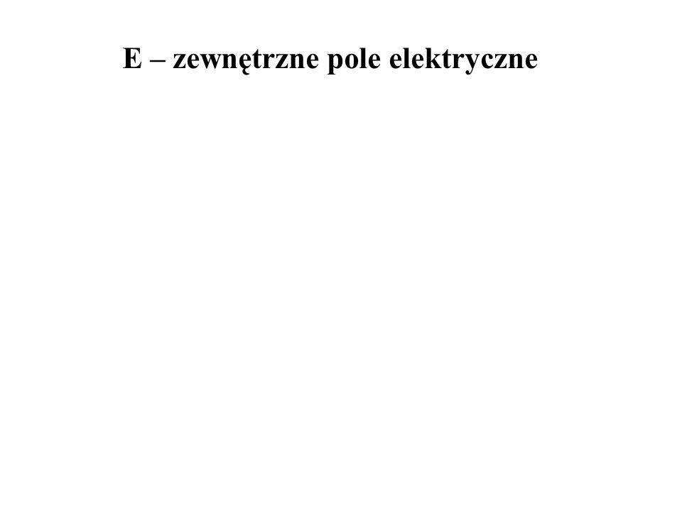E – zewnętrzne pole elektryczne