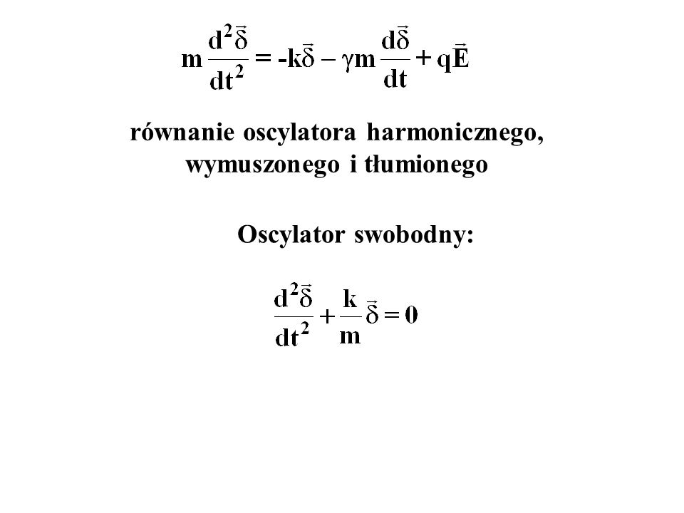 Oscylator swobodny: