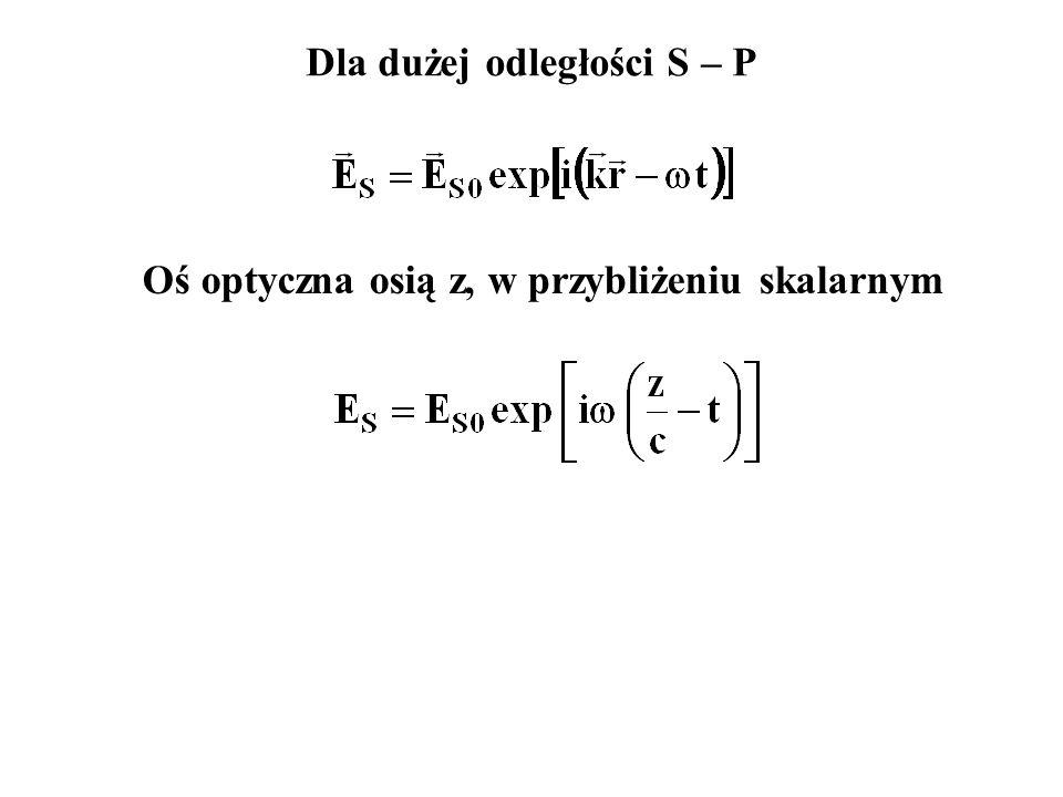 Oś optyczna osią z, w przybliżeniu skalarnym