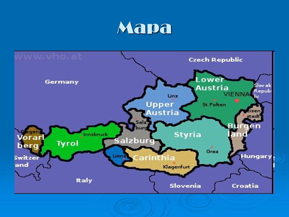 Granice Państwo położone w Europie Środkowej.Federacja dziewięciu landów.