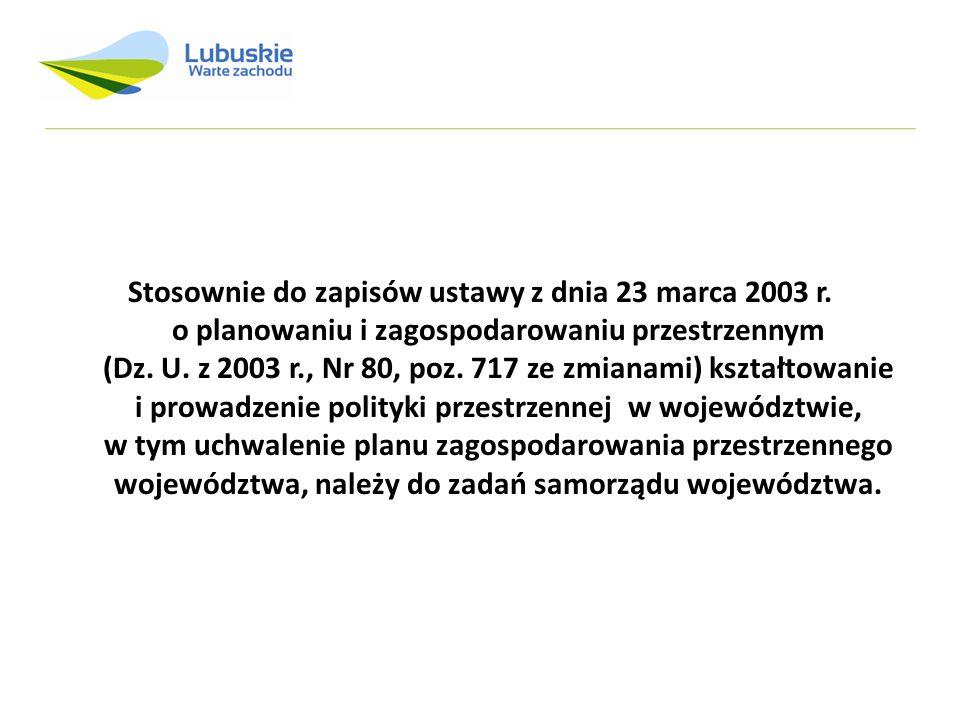 Stosownie do zapisów ustawy z dnia 23 marca 2003 r. o planowaniu i zagospodarowaniu przestrzennym (Dz. U. z 2003 r., Nr 80, poz. 717 ze zmianami) kszt