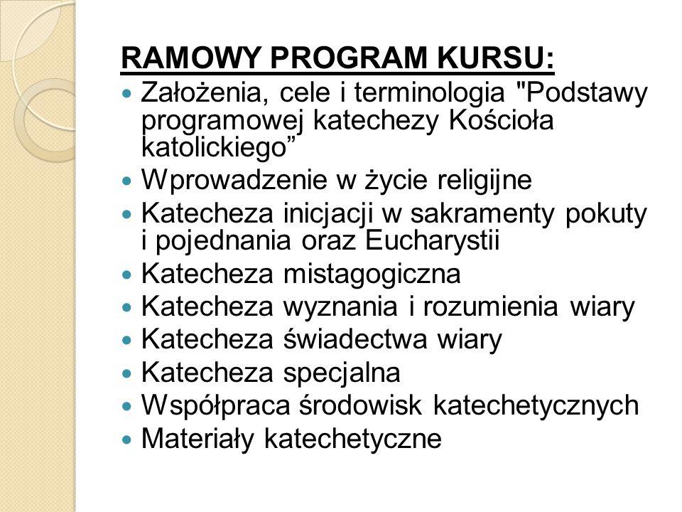 RAMOWY PROGRAM KURSU: Założenia, cele i terminologia