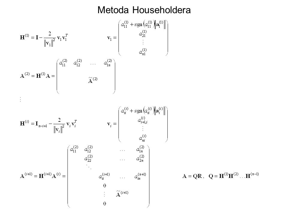 Metoda Householdera