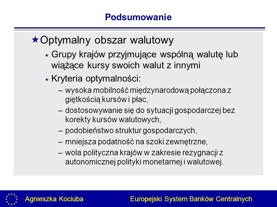 Agnieszka Kociuba Europejski System Banków Centralnych Dziękuję za uwagę.
