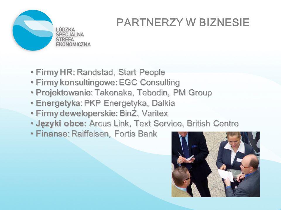 Firmy HR: Randstad, Start People Firmy HR: Randstad, Start People Firmy konsultingowe: EGC Consulting Firmy konsultingowe: EGC Consulting Projektowani